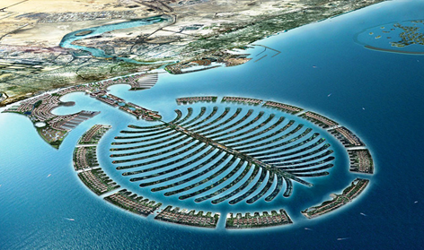 沙漠中的海市蜃楼 海湾明珠迪拜图片