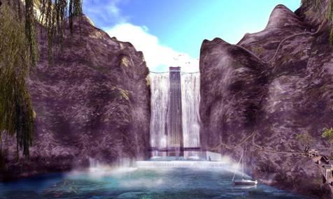 螺髻九十九里将建世界唯一瀑布景观电梯