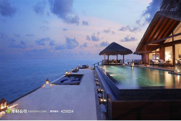 马尔代夫海边屋