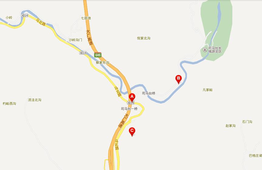 古北水镇旅游地图