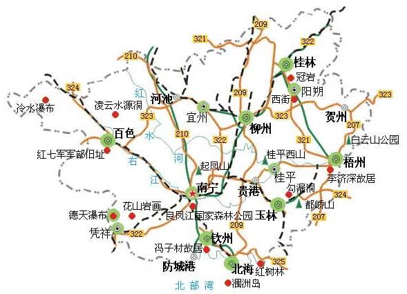 崇左石林风景区地图