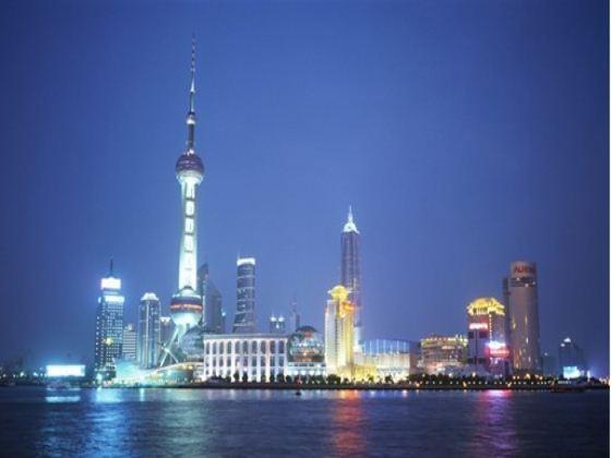 北京高楼大厦俯视鱼眼图