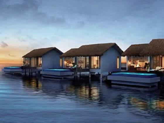 马尔代夫自由行 瑞僖敦岛自由行           单卧房式豪华水上泳池别墅